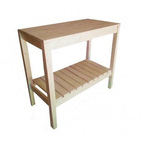 Consola pentru baie din lemn masiv 80x40x75 cm