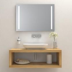 Consola pentru baie din lemn masiv, suspendata 100x50x40 cm