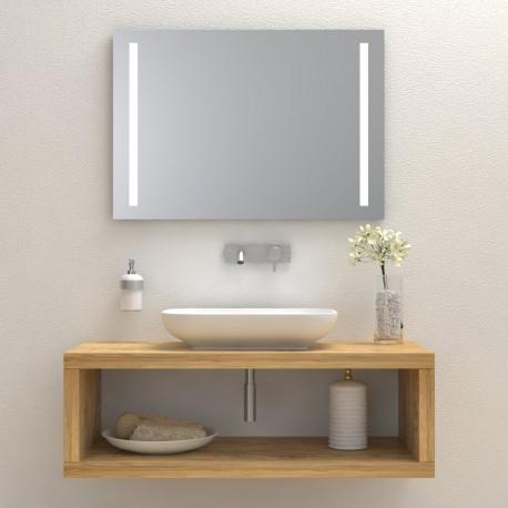 Consola pentru baie din lemn masiv, suspendata 70x45x40 cm