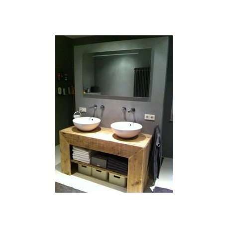 Consola pentru baie cu rama foarte lata