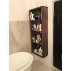 Raft pentru baie din lemn maro