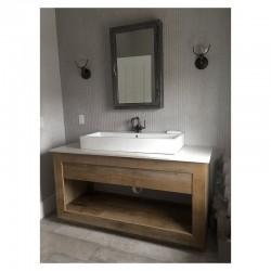 Consola pentru baie din lemn masiva