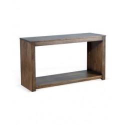 Consola din lemn maro cu polita