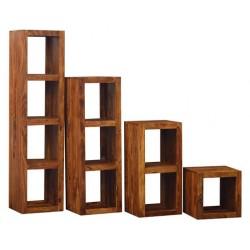 Biblioteca din lemn masiv compusa  din 4 copuri