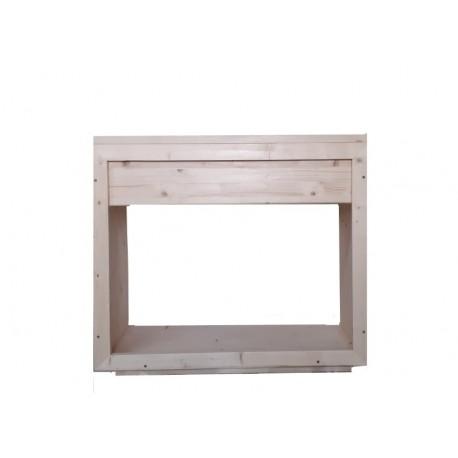 Consola baie din lemn masiv rasinoase 80x70x40 cm