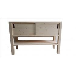 Consola pentru baie din lemn masiv de rasinoase 120x40x80 cm