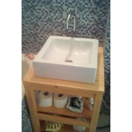 Consola pentru baie cu polita