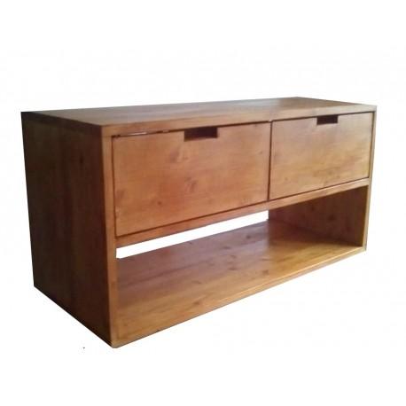 Consola pentru baie cu doua dulapuri si polita120/50/60 cm